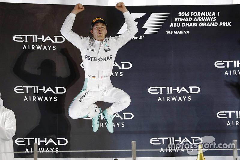 Nico Rosberg terminou o GP de Abu Dhabi na segunda posição e conquistou seu primeiro título na Fórmula 1.