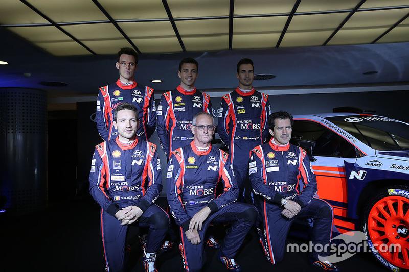 Презентация Hyundai i20 Coupe WRC: Дани Сордо, Хейден Пэддон, Джон Кеннард, Марк Марти, Николя Жильсуль, Тьерри Невилль, Hyundai Motorsport