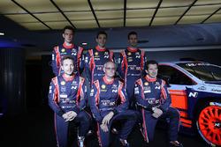 Dani Sordo, Hayden Paddon, John Kennard, Marc Marti, Nicolas Gilsoul, Thierry Neuville, Hyundai Motorsport, et la Hyundai i20 Coupe WRC 2017