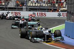 Nico Rosberg, Mercedes AMG F1 ile ilk en hızlı tur - Avrupa 2012