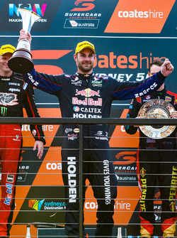 Podium: 1. Shane van Gisbergen, Triple Eight Race Engineering, Holden