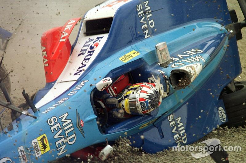 Авария: Александр Вурц, Benetton