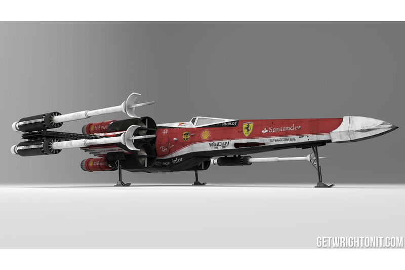 X-Wing Star Wars у кольорах Ferrari
