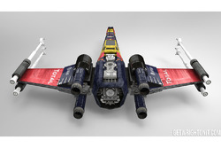 Star Wars X-Wing con livrea Red Bull Racing
