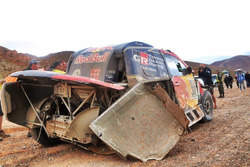 #301 Toyota Gazoo Racing, Toyota: Nasser Al-Attiyah, Matthieu Baumel after the crash