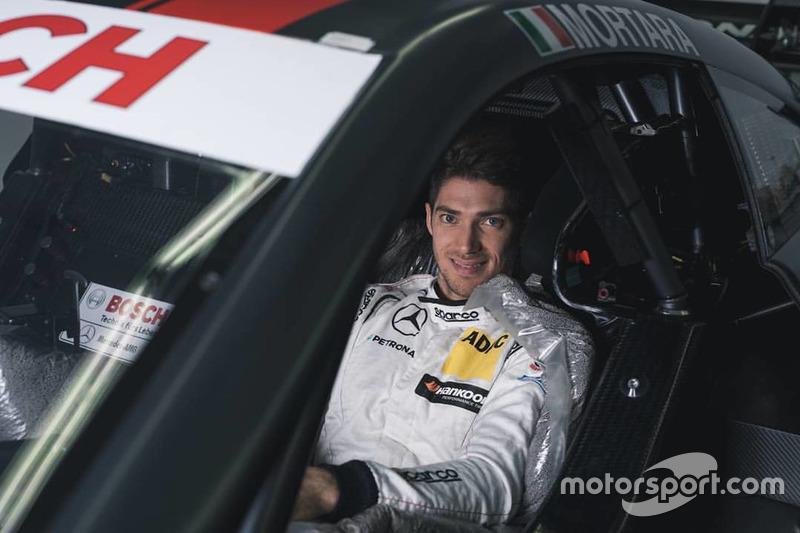 Edoardo Mortara at the seat fiiting