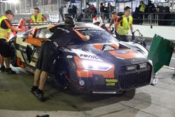 Boxenstopp #14 Optimum Motorsport Audi R8 LMS: Joe Osborne, Flick Haigh, Ryan Ratcliffe, Christopher Haase