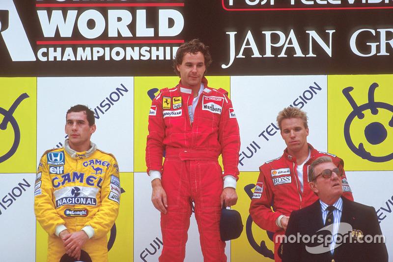 1987: 1. Gerhard Berger, 2. Ayrton Senna, 3. Stefan Johansson