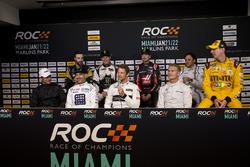 Helio Castroneves; Tony Kanaan; Jenson Button; David Coulthard; James Hinchcliffe; Petter Solberg; Kurt Busch; Felipe Massa