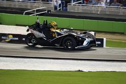 Kyle Busch, driving the Polaris Slingshot SLR
