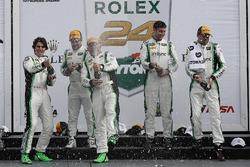 Podium GTD: 1. Daniel Morad, Jesse Lazare, Carlos de Quesada, Michael de Quesada, Michael Christensen, Alegra Motorsports