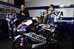 Jorge Martín, Gresini Racing Team, und Fabio Di Giannantonio, Gresini Racing Team, mit Fausto Gresini, Gresini Racing Team, Teammanager