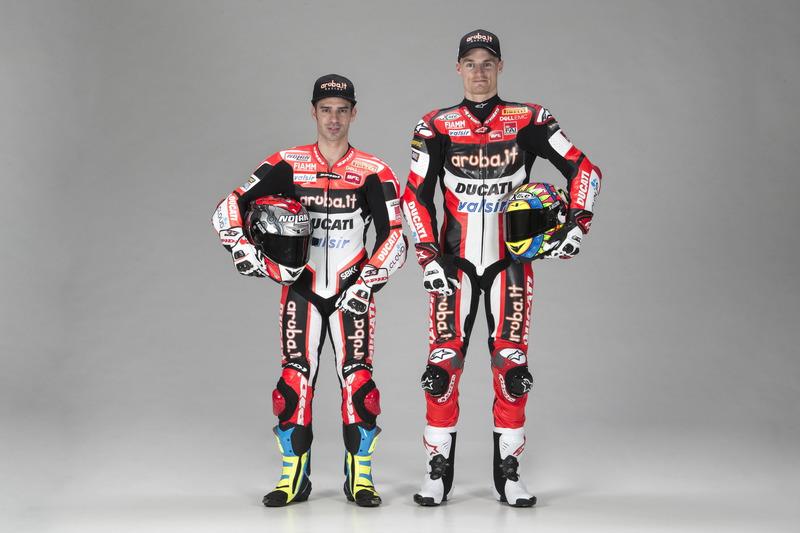 Marco Melandri en Chaz Davies, Ducati Team