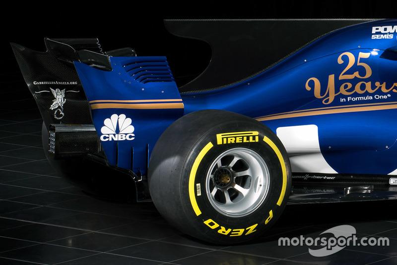 L'aileron arrière de la Sauber C36