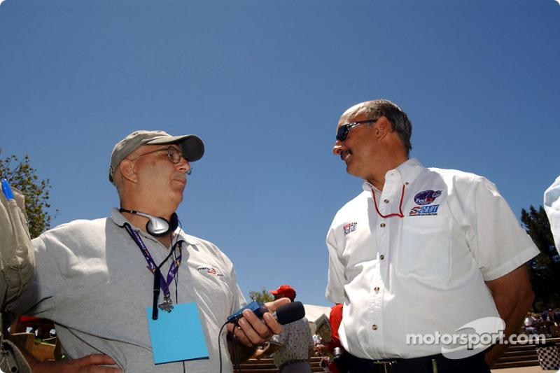 Motorsport.com's Jack Durbin and Bobby Rahal