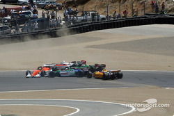 First corner accident