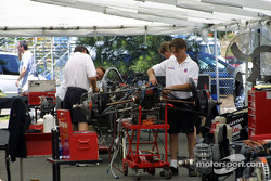 Newman-Haas pit area