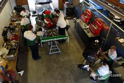 Fernandez Racing garage area