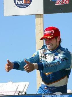 The podium: Alex Tagliani