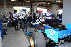 Team Player's garage area