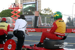Late race action on pitlane