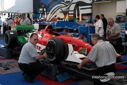 Technical inspection for Michel Jourdain Jr.