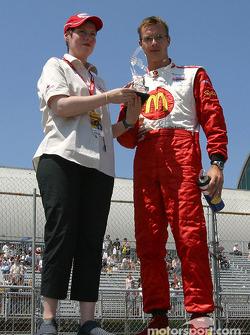 Sébastien Bourdais with the pole trophy