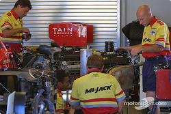 Mi-Jack Conquest Racing crew at work