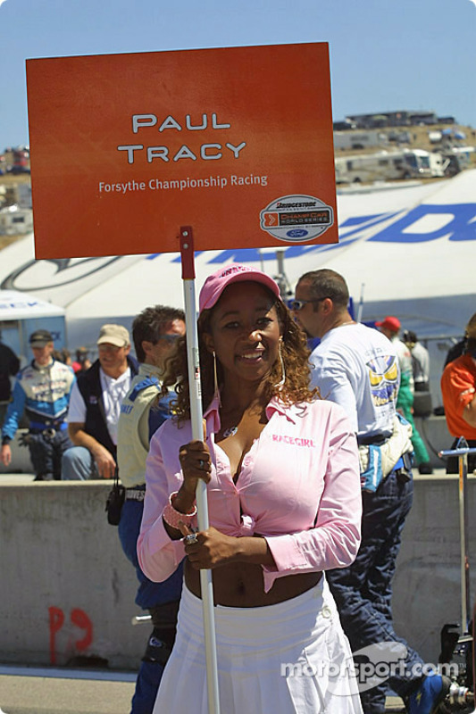 La Grid Girl de Paul Tracy
