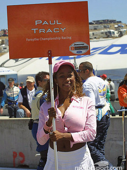 Paul Tracy's grid girl