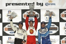 Sebastien, Bruno and Patrick on the victory podium
