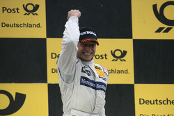 Podium: race winner Bruno Spengler, Team HWA AMG Mercedes, AMG Mercedes C-Klasse
