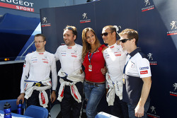 Sébastien Bourdais, Franck Montagny, Stéphane Sarrazin and Anthony Davidson