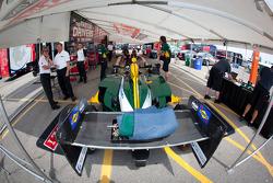 Car of Takuma Sato, KV Racing Technology-Lotus at technical inspection