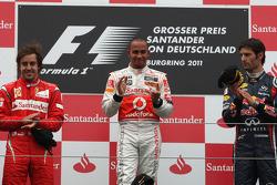 Podium: 1. Lewis Hamilton, 2. Fernando Alonso, 3. Mark Webber