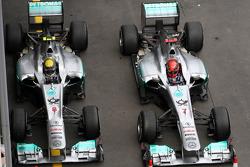 Nico Rosberg, Mercedes GP F1 Team, Michael Schumacher, Mercedes GP F1 Team