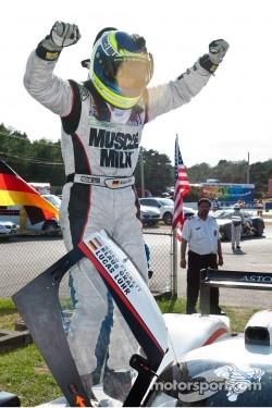 Klaus Graf celebrates victory