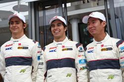 Alineación de pilotos 2011 para Sauber: Esteban Gutiérrez, Sauber F1 Team, Sergio Pérez, Sauber F1 T