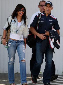 Gabriella Tarkany, the girlfriend of Pastor Maldonado, AT&T Williams and Pastor Maldonado, AT&T Williams