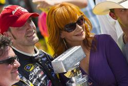 Victory lane: race winner Paul Menard, Richard Childress Racing Chevrolet celebrates