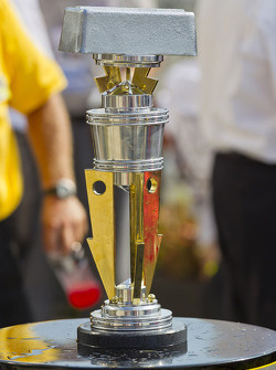 Victory lane: the victory trophy