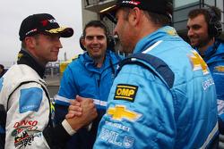 Robert Dahlgren Volvo C30, Polestar Racing 2nd position and Yvan Muller, Chevrolet Cruz 1.6T, Chevrolet pole position