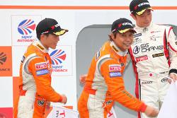 Podium GT300 2nd place: #74 Corolla Axio apr GT: Morio Nitta, Yuji Kunimoto