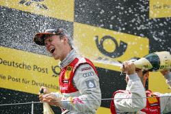 Podium: race winner Mattias Ekström, Audi Sport Team Abt, third place Mike Rockenfeller, Audi Sport Team Abt