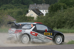 Kimi Raikkonen and Kaj Lindstrom, Citroën DS3 WRC, ICE 1 Racing
