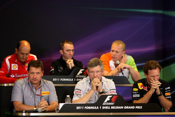 Press conference: Ross Brawn, Mercedes GP, Technical Director, Christian Horner, Red Bull Racing, Sporting Director