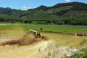 Churning mud in stunning scenery