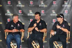 Mario Andretti, Michael Andretti and Marco Andretti meet the fans