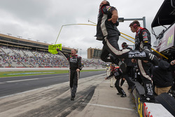 Hendrick Motorsports team members celebrate with win of Jeff Gordon