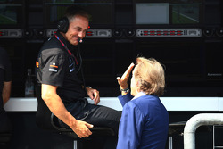 Martin Whitmarsh, McLaren, Chief Executive Officer with Luca di Montezemolo, Scuderia Ferrari, FIAT Chairman and President of Ferrari